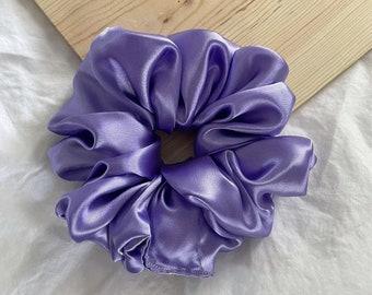 Hyacinth XL & Mini   Purple Satin  Scrunchie