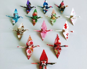 Japanese Origami Crane Decorations Set of 5, 10, 15 20, Paper Crane Party Favours, Origami Gift, Paper Gift, Japanese Wedding Decorations