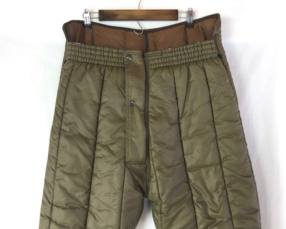 Vintage Quilted Brown 70's  Insulated Refrigiwear