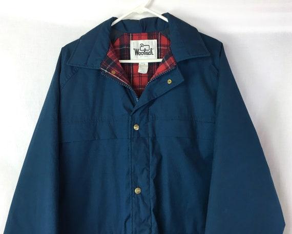 Vintage 70's/80's  Long Blue Woolrich Winter Coat