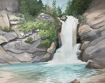 Running Eagle Falls Fine Art Print — Glacier National Park