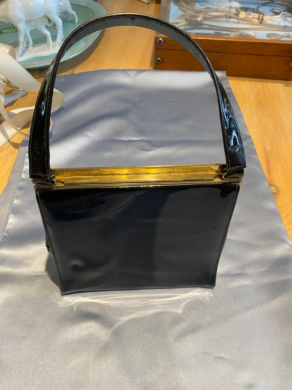 Bonwit Teller Patent Leather Evening Bag