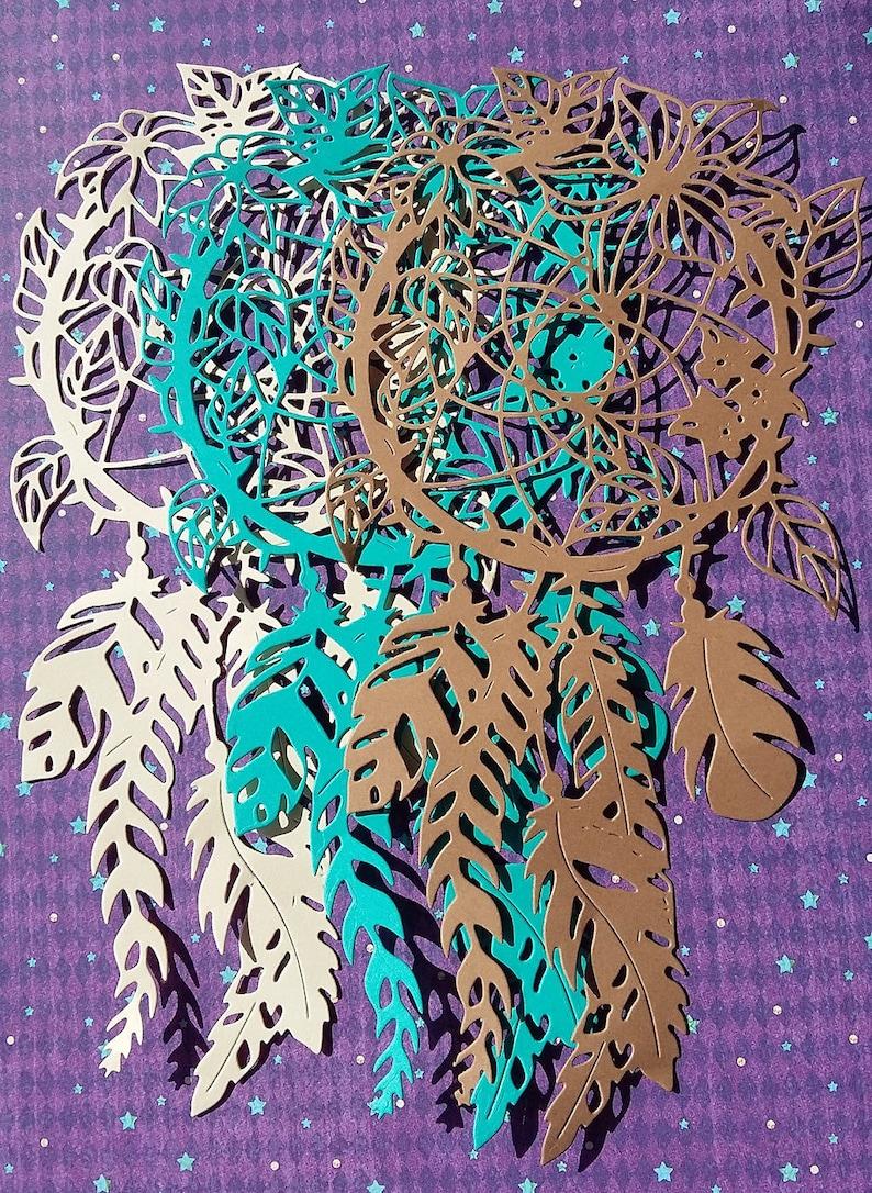 Boho Die Cut 5 pcs Dreamcatcher Large Die Cut