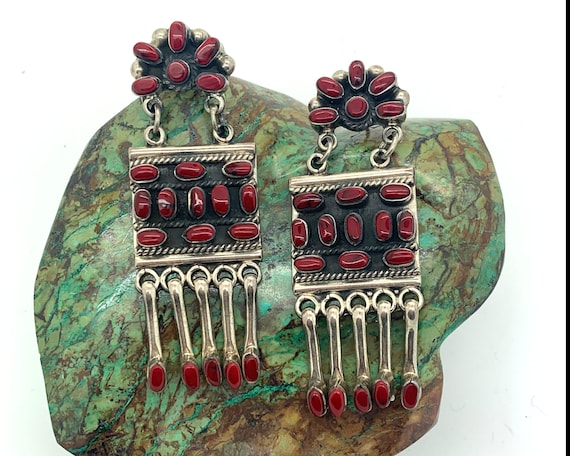 Amazing Sterling Silver + Coral Mexican Statement