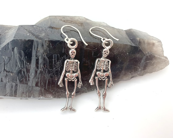 Sterling Silver Skeleton Day of the Dead Halloween
