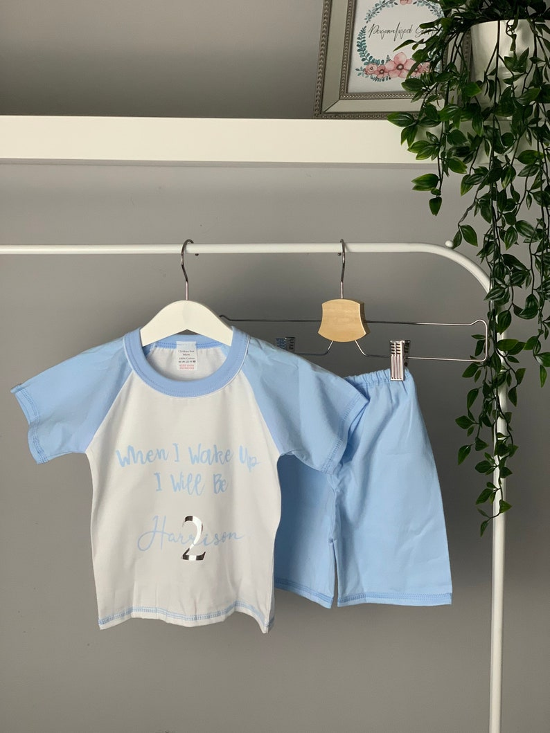 Personalised children\u2019s pyjamas  birthday pyjamas  birthday  gift idea  Christmas  Black Friday   personalised