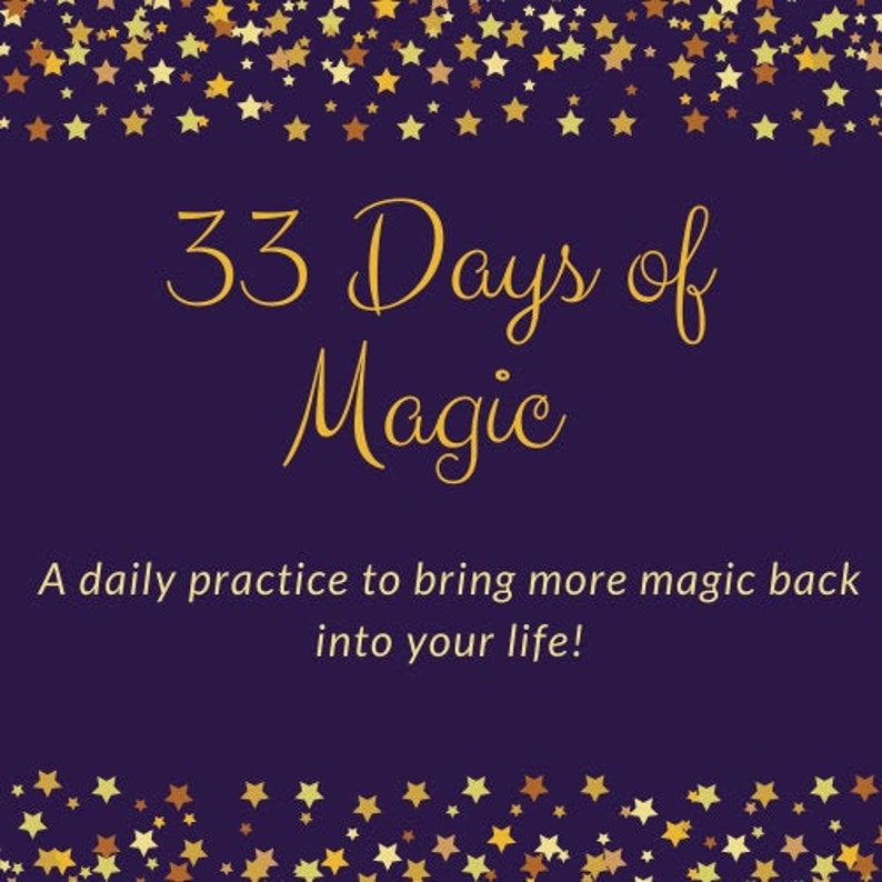 eCourse 33 Days of Magic with Bonus Affirmations Workbook image 0