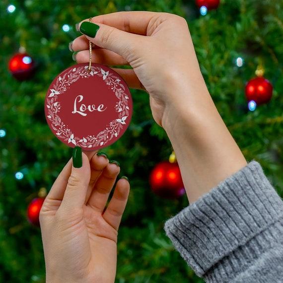 Snowflake OrnamentWhite Porcelain  Holiday Decor Craft Supply*