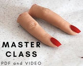 Realistic silicone severed fingers, PDF master class, realistic props, video tutorial