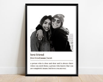 Best Friend Gifts, Definition best friend birthday gifts, Christmas, Personalized Gifts, Personalized Poster, Gift for best friend female