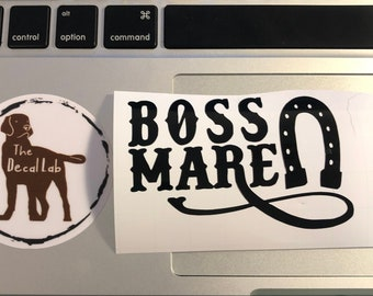 Boss Mare Vinyl Decal | Horse Vinyl Decal