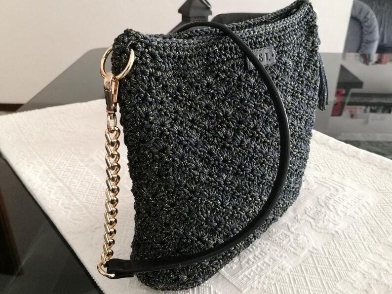 Handmade Thai swan crochet crochet bag in Italy
