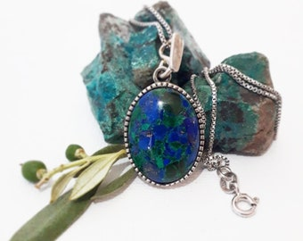 sterling silver eilat stone pendent