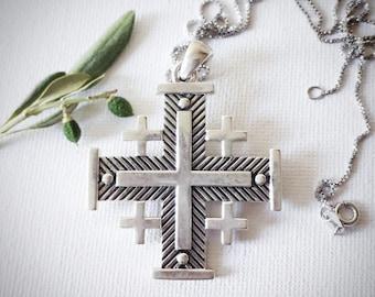 sterling silver Jerusalem Cross