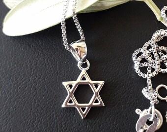 Star of David sterling silver