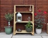 Tiered Plant Pot Stand Ladder Shelf Wooden