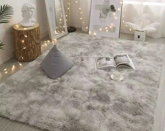 Plush Faux Fur Soft Rug - Home Decor Living Room Bedroom Non Slip Comfy Fluffy Carpet - cosy chair throw