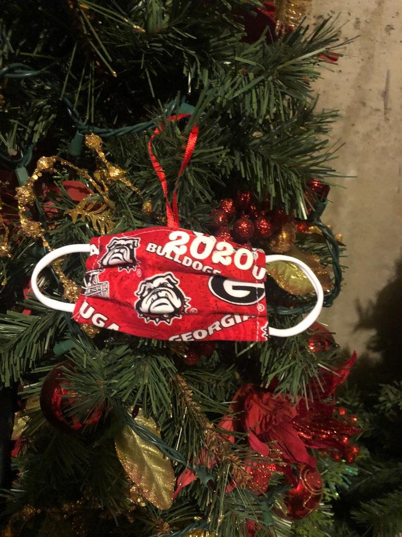 UGA ornament mask ornaments 2020 Christmas ornaments UGA mask ornament GA Bulldogs ornaments