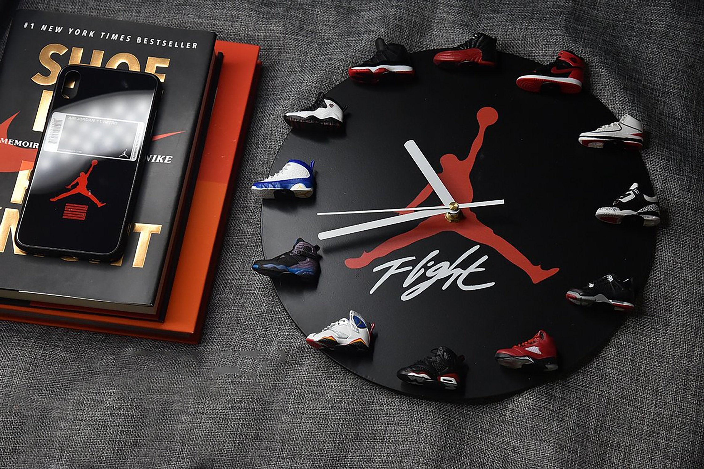 Horloge murale Air Jordan Horloge murale 3D mini sneaker   Etsy