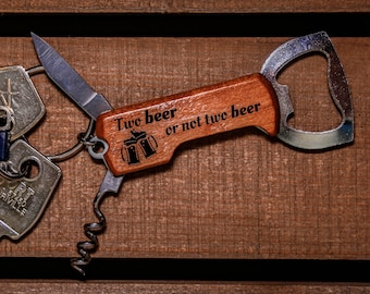 Personalised Gold Plated Corkscrew Double Hinge Bottle Opener Party Portable UK