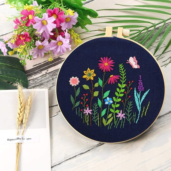 Craft Kits  Embroidery Starter Kit w/ Floral Pattern