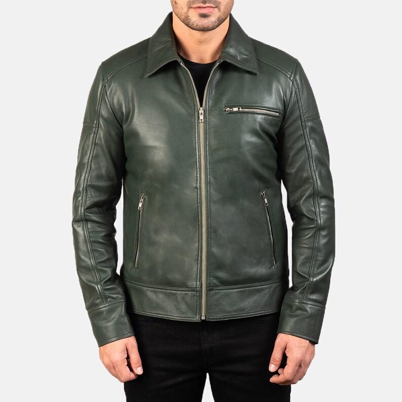Biker Leather Jacket For Mens