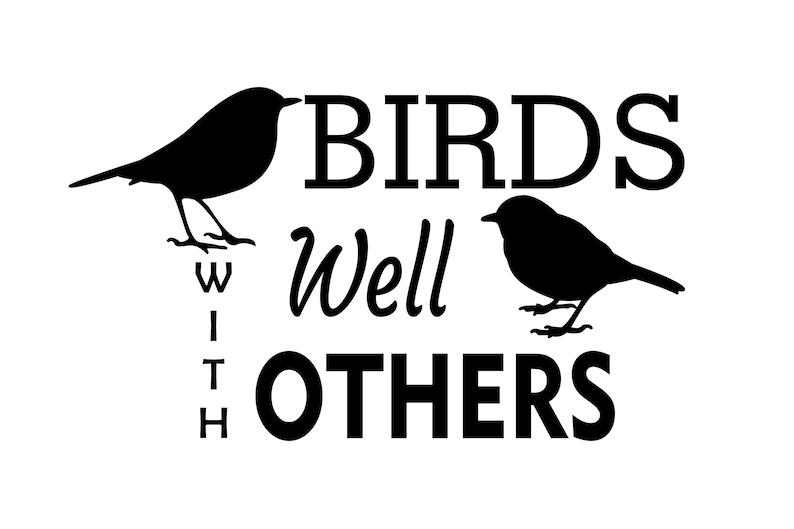 Birds Well With Others Vinyl Decal  Birders Vinyl Decal  image 0