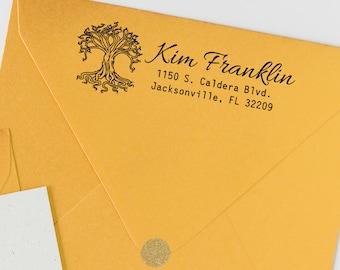 Tree of Life Return Address Stamp | Personalized Stamp | Custom Self-Inking Stamp | Realtor Closing Gift | Wedding | Housewarming Gift
