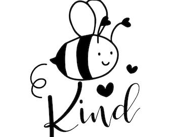 Be Kind Decal | Bee Kind Vinyl Decal | Bee Kind Vinyl Car Sticker | Bumper Sticker Bee Kind