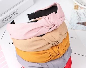 Headband For Women Bow Knot Hairband Soft Cotton Comfortable Headband / madlisastreet accessories
