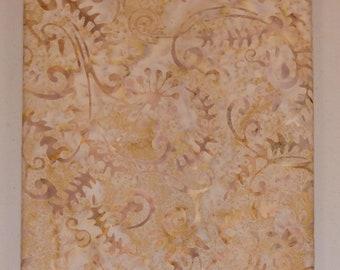 Cream Tones Batik Fabric