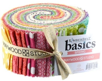 "Spring - KimberBell Basics 2.5"" Strip Jelly Roll"