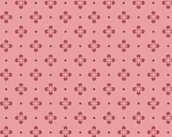 Burgundy & Blush - Foulard Dot - Pink