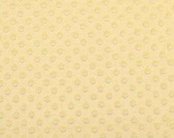 Light Yellow Soft Cuddle Fabric