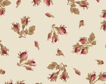Burgundy & Blush - Tossed Rose - Vintage White