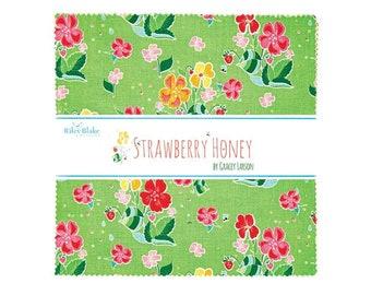 "Strawberry Honey Layer Cake 10"" Squares Quilting Fabric"