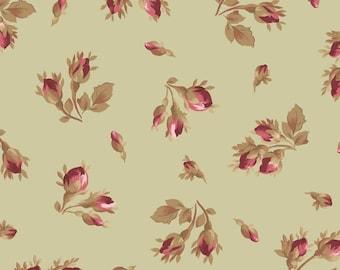 Burgundy & Blush - Tossed Rose - Sage