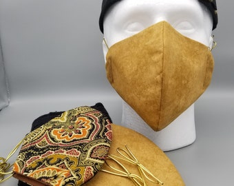 Face Mask Washable Cotton Reusable Mask Men Can Wear on A Workday or Weekend Plus Opt Protective Bag