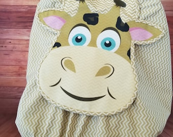 """Car Seat Canopy Cover - """"Gentle Giraffe"""" Playful Car Seat Covers For Boys and Girls"""