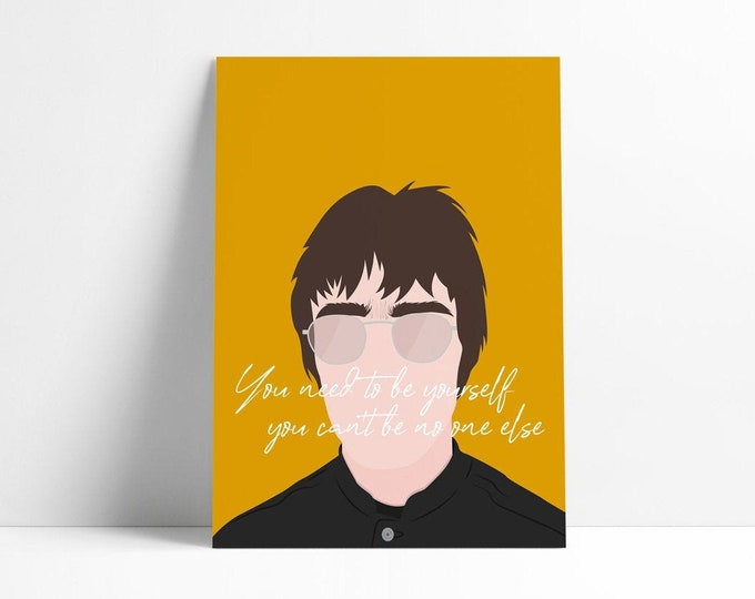 90s | Liam Gallagher | Supersonic | Print A4