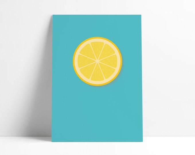Lemon | Fruit | Stone Roses | Print A4