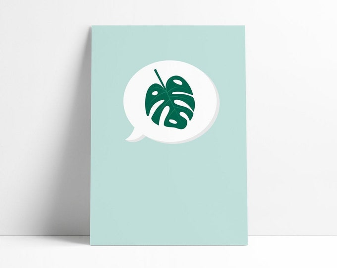 Monstera | Plant | Nature | Print A4