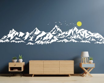 Wall stickers deco mountain 1387