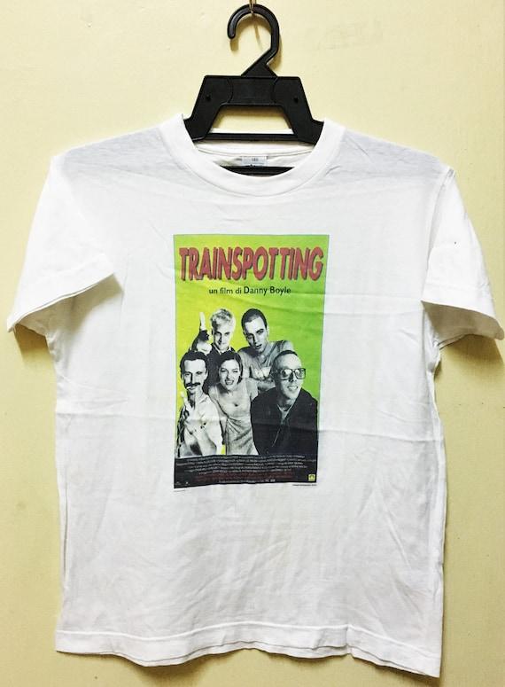 vintage 90s TRAINSPOTTING Movie T-shirt Punk Ewan