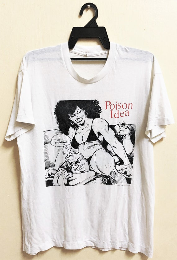 Vintage 1991 POISON IDEA Punk Rock Hardcore Tour C