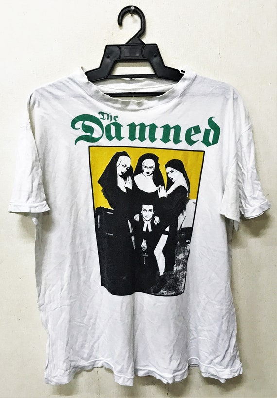 Vintage 80 1982 THE DAMNED Punk Rock Punk Gothic T