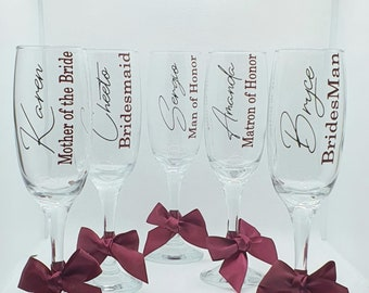 Personalised Flute| Bridal Party - Champagne Flutes