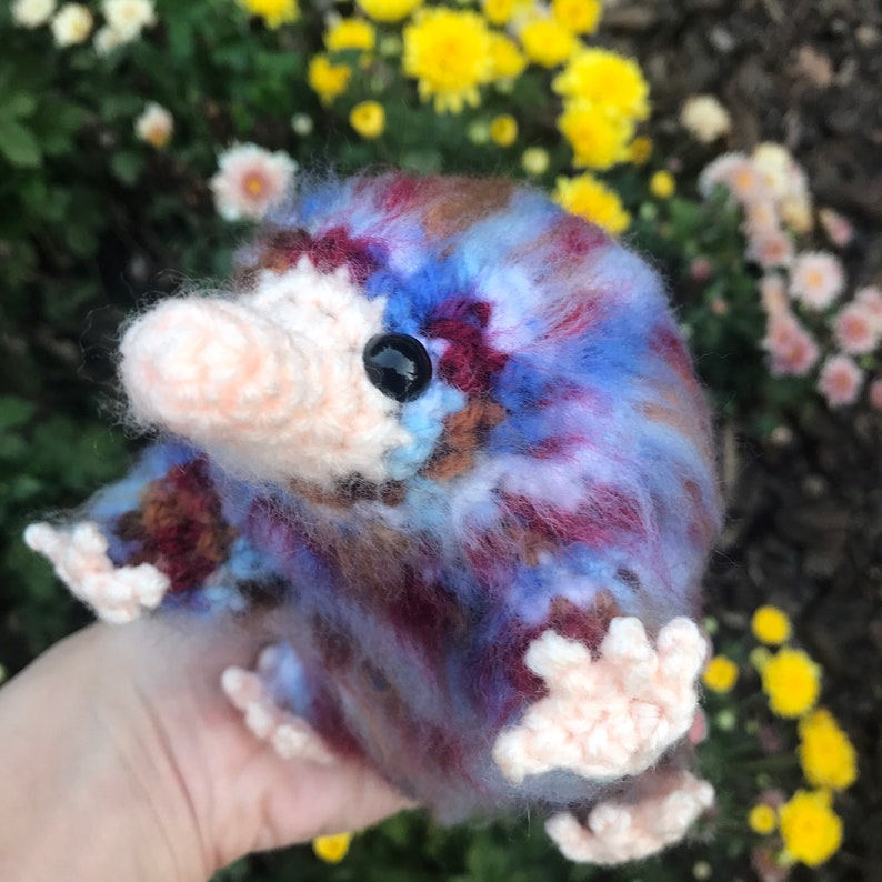 Amigurumi Crochet Niffler Harry Potter Inspired Replica Wiseacre\u2019s Baby Niffler Cosplay Plush Fantastic Beasts Inspired