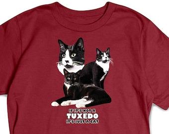 Tuxedo Cat Breed Tee Not Just A Cat Shirt Cat T-Shirt