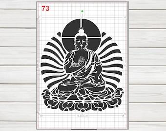 GiwuArt Big Lotus Flower Stencil Mylar A4 Sheet 190 Micron Strong Reusable Craft Art Wall Deco